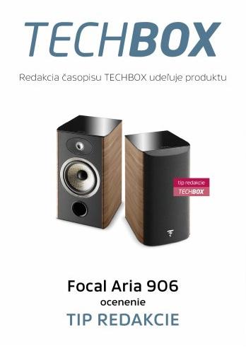 Focal Aria 906 - Ocenenie Tip redakcie od magazínu Techbox