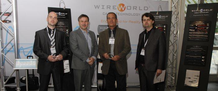 Výstava High-End Mníchov 2014 - Stretnutie konateľov spoločnosti Enigma High Fidelity so zakladateľom Wireworld Davidom Salzom
