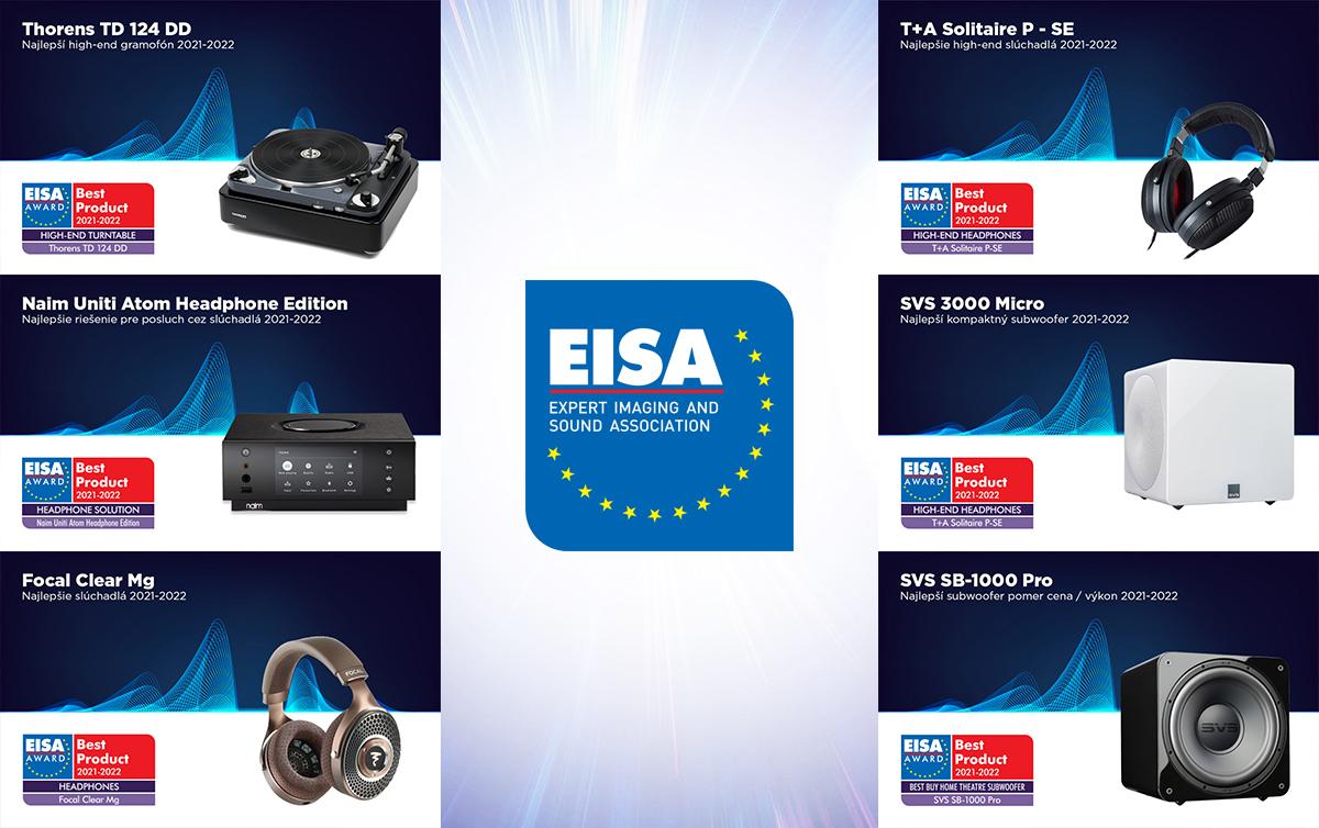 Tohtoročné prestížne ocenenie EISA 2021-2022 získalo až 6 produktov z nášho portfólia